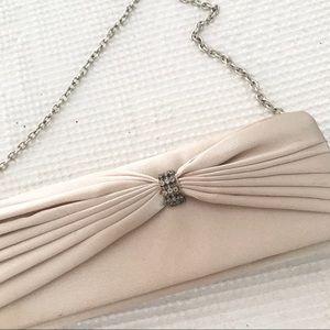 Vintage Gold evening bag clutch wristlet w chain